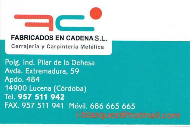 Imagen de FABRICADOS EN CADENA S.L