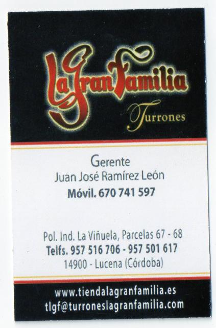 Imagen de TURRONES La Gran  Familia