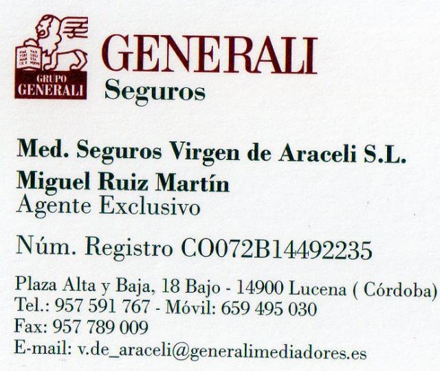 Imagen de MEDIADORES Seguros Virgen de Araceli S.L.