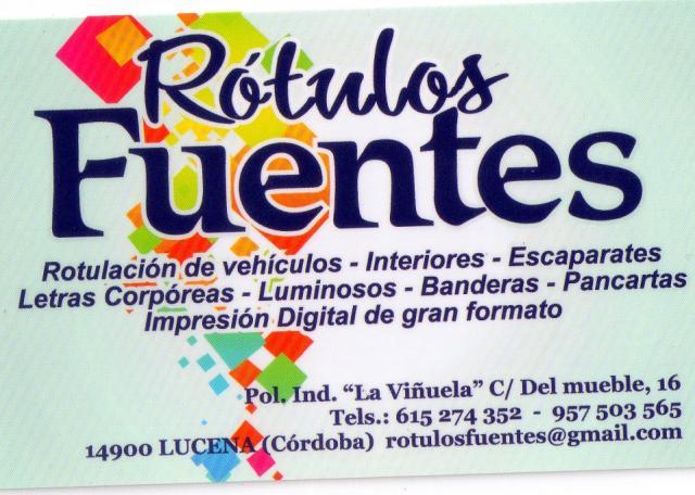 Imagen de RÓTULOS FUENTES