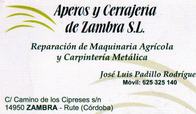 Imagen de APEROS Y CERRAJERÍA DE ZAMBRA, S.L.