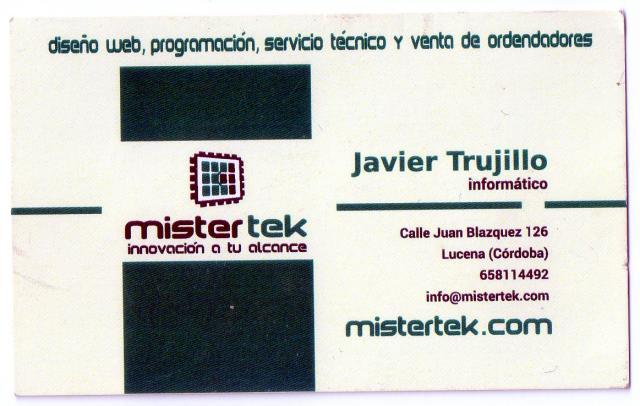 Imagen de Mister TeK. Javier Trujillo-Informático