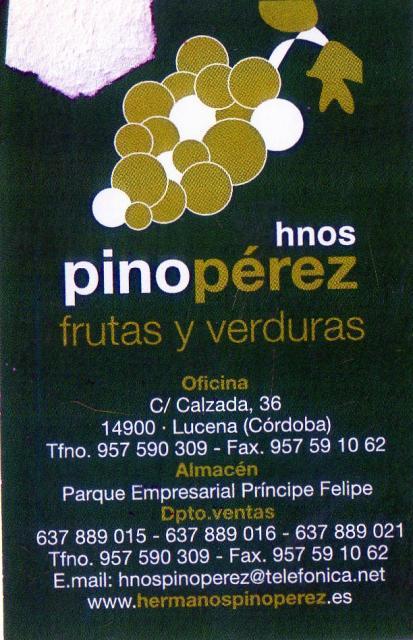 Imagen de HNOS. PINO PÉREZ, Frutas y verduras