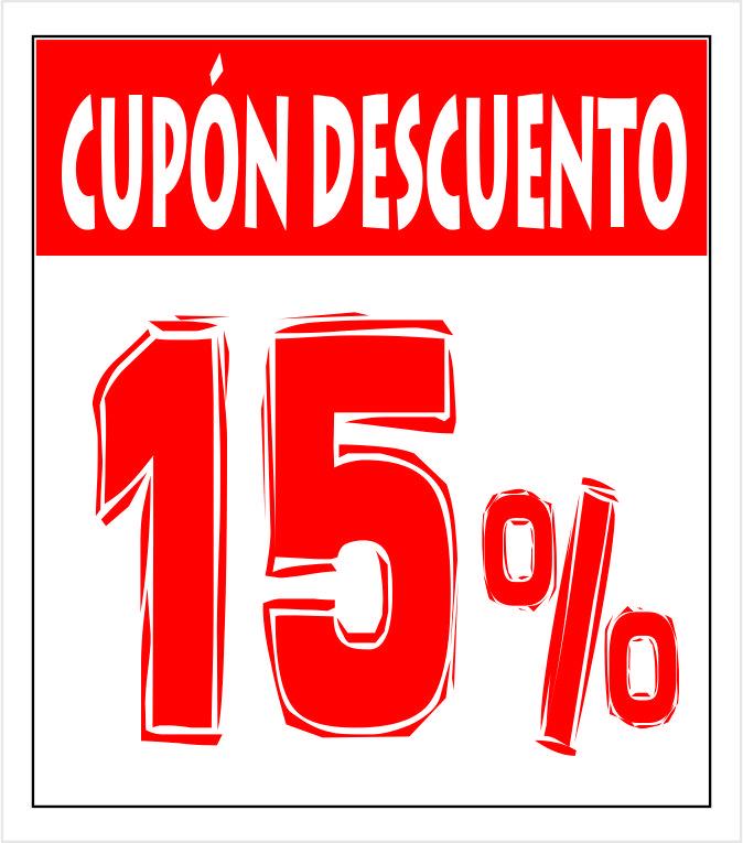 Cupón 15 porciento