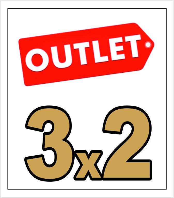 Cupón Outlet 3x2